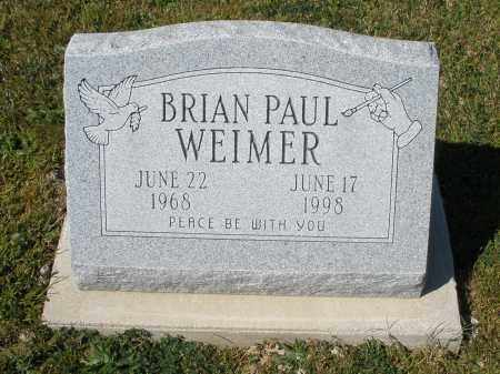 WEIMER, BRIAN PAUL - Darke County, Ohio | BRIAN PAUL WEIMER - Ohio Gravestone Photos