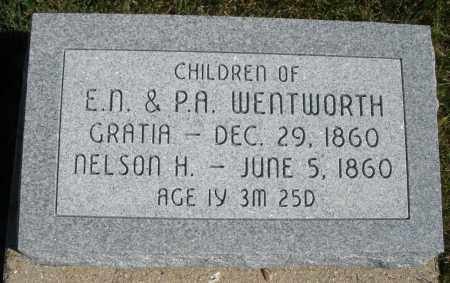WENTWORTH, GRATIA - Darke County, Ohio | GRATIA WENTWORTH - Ohio Gravestone Photos