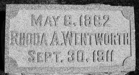 WENTWORTH, RHODA A. - Darke County, Ohio | RHODA A. WENTWORTH - Ohio Gravestone Photos
