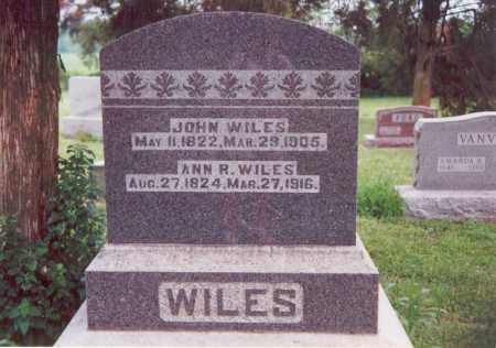 WILES, ANN R. - Darke County, Ohio | ANN R. WILES - Ohio Gravestone Photos