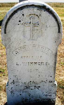 WIMMERS, ANNA MARIA - Darke County, Ohio | ANNA MARIA WIMMERS - Ohio Gravestone Photos
