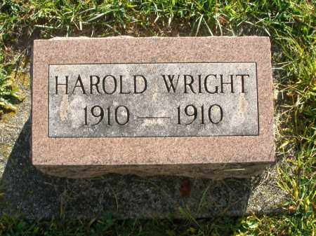 WRIGHT, HAROLD - Darke County, Ohio | HAROLD WRIGHT - Ohio Gravestone Photos