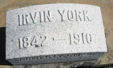 YORK, IRVIN - Darke County, Ohio | IRVIN YORK - Ohio Gravestone Photos