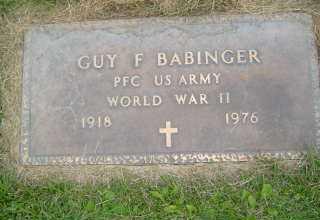 BABINGER, GUY F - Defiance County, Ohio | GUY F BABINGER - Ohio Gravestone Photos