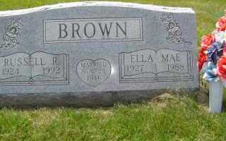 BROWN, RUSSELL R - Defiance County, Ohio | RUSSELL R BROWN - Ohio Gravestone Photos