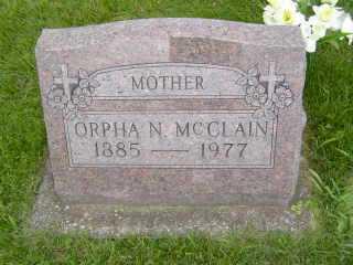 MC CLAIN, ORPHA N - Defiance County, Ohio | ORPHA N MC CLAIN - Ohio Gravestone Photos