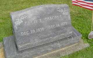 OSBORNE, CECIL E - Defiance County, Ohio | CECIL E OSBORNE - Ohio Gravestone Photos
