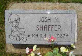 SHAFFER, JOSH M - Defiance County, Ohio | JOSH M SHAFFER - Ohio Gravestone Photos