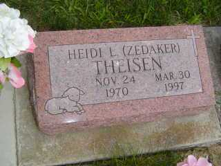 THIESEN, HEIDI L - Defiance County, Ohio | HEIDI L THIESEN - Ohio Gravestone Photos