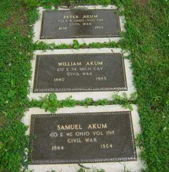 AKUM, WILLIAM - Delaware County, Ohio | WILLIAM AKUM - Ohio Gravestone Photos