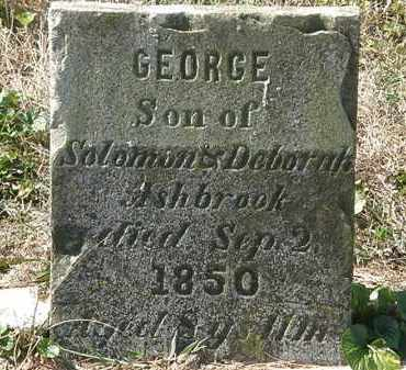 ASHBROOK, GEORGE - Delaware County, Ohio | GEORGE ASHBROOK - Ohio Gravestone Photos