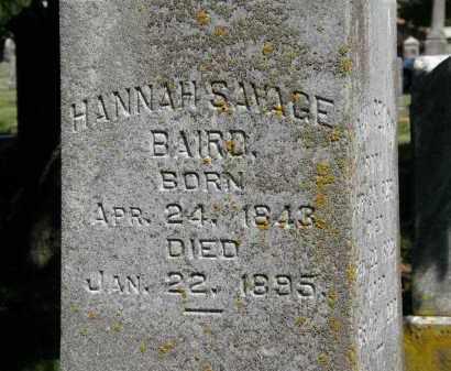 BAIRD, HANNAH - Delaware County, Ohio | HANNAH BAIRD - Ohio Gravestone Photos