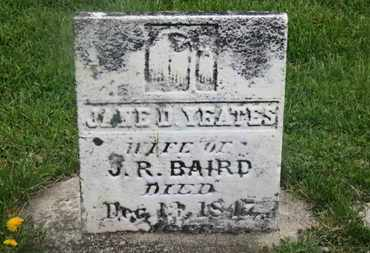 YEATS BAIRD, JANE D. - Delaware County, Ohio | JANE D. YEATS BAIRD - Ohio Gravestone Photos