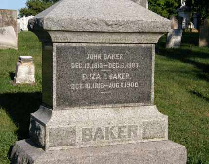 BAKER, ELIZA P. - Delaware County, Ohio | ELIZA P. BAKER - Ohio Gravestone Photos