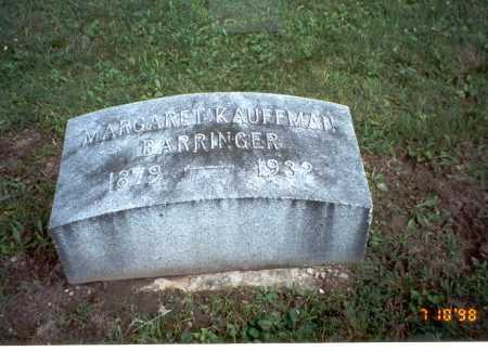 KAUFFMAN BARRINGER, MARGARET - Delaware County, Ohio | MARGARET KAUFFMAN BARRINGER - Ohio Gravestone Photos