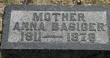 BASIGER, ANNA - Delaware County, Ohio | ANNA BASIGER - Ohio Gravestone Photos