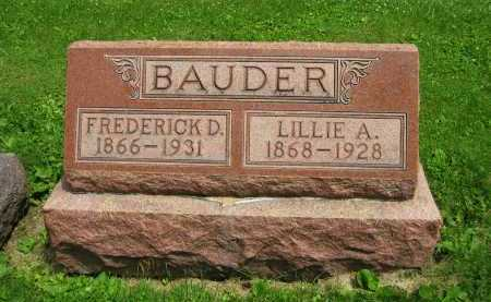 BAUDER, LILLIE A. - Delaware County, Ohio | LILLIE A. BAUDER - Ohio Gravestone Photos