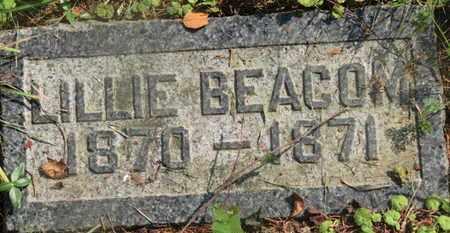 BEACOM, LILLIE - Delaware County, Ohio | LILLIE BEACOM - Ohio Gravestone Photos
