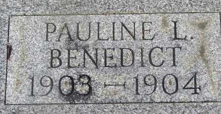 BENEDICT, PAULINE L. - Delaware County, Ohio | PAULINE L. BENEDICT - Ohio Gravestone Photos