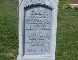 BENTON, EMMA - Delaware County, Ohio | EMMA BENTON - Ohio Gravestone Photos