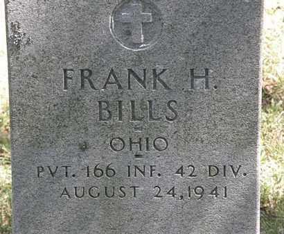 BILLS, FRANK H. - Delaware County, Ohio | FRANK H. BILLS - Ohio Gravestone Photos