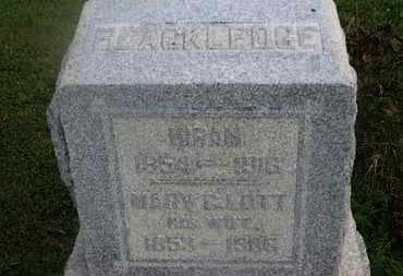 BLACKLEDGE, HIRAM - Delaware County, Ohio | HIRAM BLACKLEDGE - Ohio Gravestone Photos