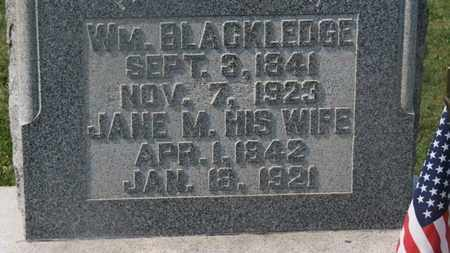 BLACKLEDGE, JANE M. - Delaware County, Ohio | JANE M. BLACKLEDGE - Ohio Gravestone Photos