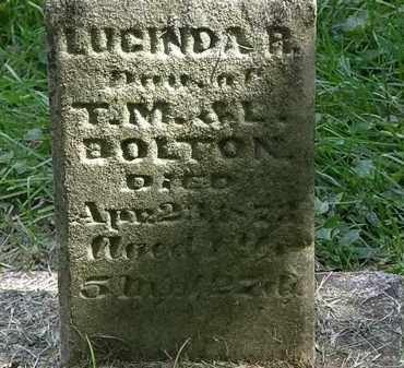 BOLTON, LUCINDA R. - Delaware County, Ohio | LUCINDA R. BOLTON - Ohio Gravestone Photos