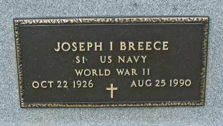 I. BREECE, JOSEPH - Delaware County, Ohio | JOSEPH I. BREECE - Ohio Gravestone Photos