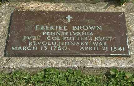 BROWN, EZEKIEL - Delaware County, Ohio | EZEKIEL BROWN - Ohio Gravestone Photos