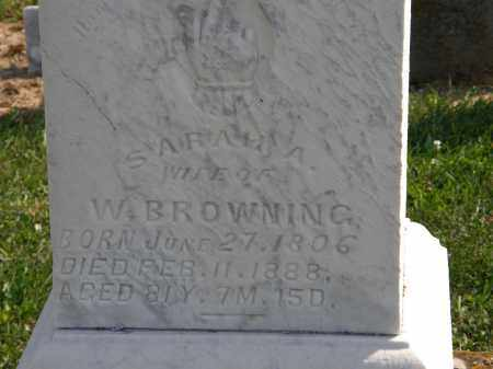 BROWNING, W. - Delaware County, Ohio | W. BROWNING - Ohio Gravestone Photos