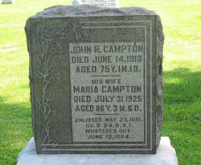 CAMPTON, JOHN R. - Delaware County, Ohio | JOHN R. CAMPTON - Ohio Gravestone Photos