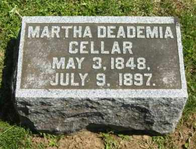 CELLAR, MARTHA DEADEMIA - Delaware County, Ohio | MARTHA DEADEMIA CELLAR - Ohio Gravestone Photos