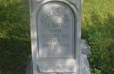 CLARK, ELIZABETH - Delaware County, Ohio | ELIZABETH CLARK - Ohio Gravestone Photos