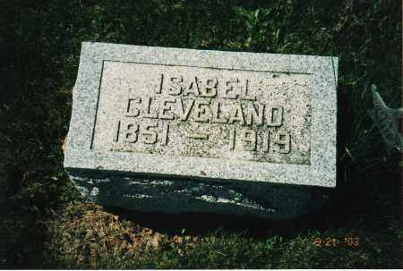 CLEVELAND, ISABEL - Delaware County, Ohio | ISABEL CLEVELAND - Ohio Gravestone Photos