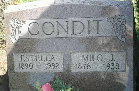 CONDIT, MILO J.(SR.) - Delaware County, Ohio | MILO J.(SR.) CONDIT - Ohio Gravestone Photos