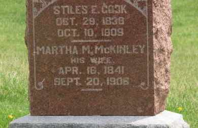 MCKINLEY COOK, MARTHA M. - Delaware County, Ohio | MARTHA M. MCKINLEY COOK - Ohio Gravestone Photos