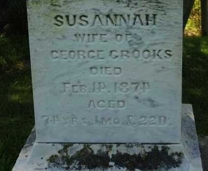CROOKS, SUSANNAH - Delaware County, Ohio | SUSANNAH CROOKS - Ohio Gravestone Photos