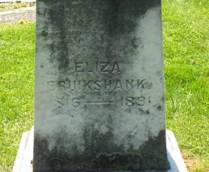 CRUIKSHANK, ELIZA - Delaware County, Ohio | ELIZA CRUIKSHANK - Ohio Gravestone Photos