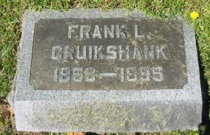 CRUIKSHANK, FRANK L. - Delaware County, Ohio | FRANK L. CRUIKSHANK - Ohio Gravestone Photos