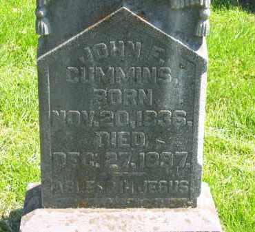 CUMMINS, JOHN F. - Delaware County, Ohio | JOHN F. CUMMINS - Ohio Gravestone Photos