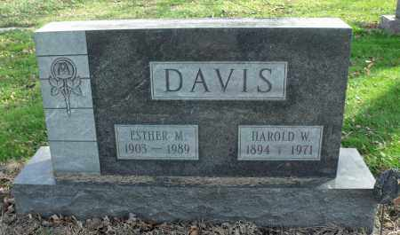DAVIS, ESTHER MARIE - Delaware County, Ohio | ESTHER MARIE DAVIS - Ohio Gravestone Photos