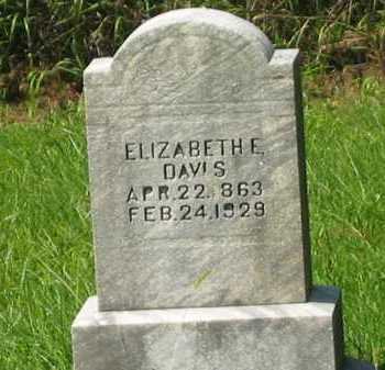 DAVIS, ELIZABETH E. - Delaware County, Ohio | ELIZABETH E. DAVIS - Ohio Gravestone Photos