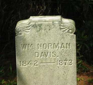 DAVIS, WM. NORMAN - Delaware County, Ohio | WM. NORMAN DAVIS - Ohio Gravestone Photos