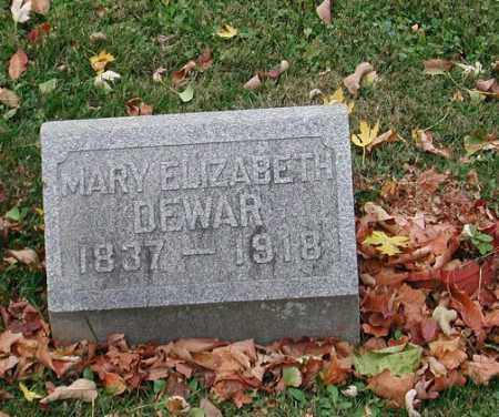 DEWAR, MARY ELIZABETH - Delaware County, Ohio | MARY ELIZABETH DEWAR - Ohio Gravestone Photos