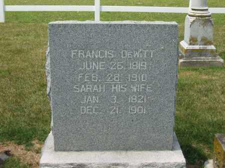 DEWITT, SARAH - Delaware County, Ohio | SARAH DEWITT - Ohio Gravestone Photos