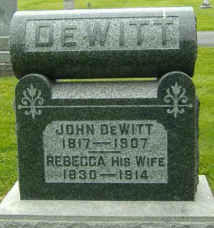 DEWITT, REBECCA - Delaware County, Ohio | REBECCA DEWITT - Ohio Gravestone Photos