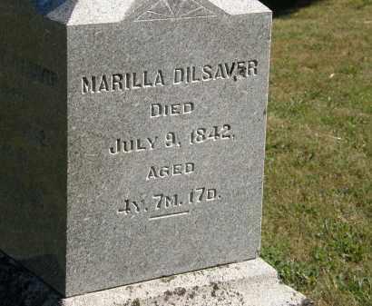 DILSAVER, MARILLA - Delaware County, Ohio | MARILLA DILSAVER - Ohio Gravestone Photos