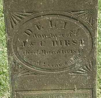 DIRST, J. - Delaware County, Ohio | J. DIRST - Ohio Gravestone Photos