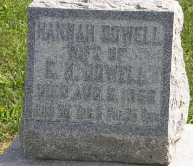 DOWELL, HANNAH - Delaware County, Ohio | HANNAH DOWELL - Ohio Gravestone Photos